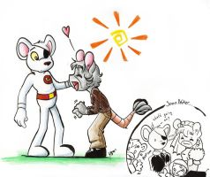 lucy and dangermouse by sashamya