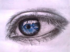 an eye by pencil charcoal pencilcolored pencils by fantafiction