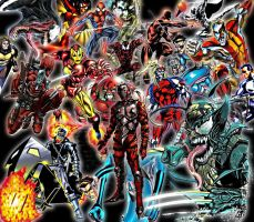 Marvel Comic Wallpaper by BornAnimeFreak