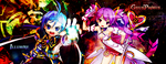 Ronan (GC) and Dimension Witch (Elsword) by akumahime2318