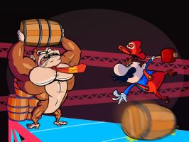 Donkey Kong and Mario: First Showdown by CuddlesSOAD