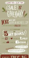 Claire's fancy, holiday-timey SALE and GIVEAWAY! by shoomlah
