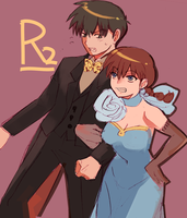 Ranma and Ryoga by WXdeviant