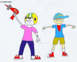 Commander Keen meets Andy by smithandcompanytoons