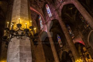 Inside cathedral La Seu by TDSOD