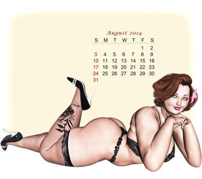 Pinup Number Thirty-One: Calendar Girl (August) by wcpelon
