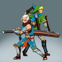 Link and Impa by Silent-Shanin