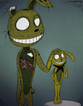 FNAF - Springtrap and Plushtrap (Trade) by Atlas-White