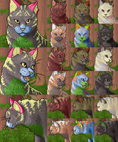 Free Feral Cat Portraits by FerianMoon