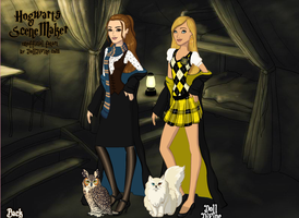 Nelly and Becca Hogwarts by Colleen15
