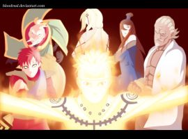Naruto and Five Kages by Advance996