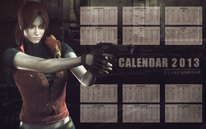 Claire Redfield calendar 2013 by Queen-Stormcloak