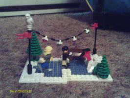 Lego Christmas: Ice skating by Tough-and-Heartless