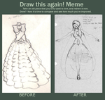 Dream Dress before and after meme by elven-soul