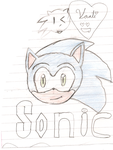 First attempt of drawing Sonic by ZeldaMadLover