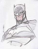 Batman head sketch by Hodges-Art
