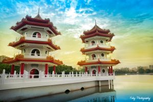 Chinese Garden Pagoda Singapore by Pandowo014