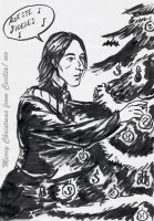 Snape and Christmas tree by cabepfir
