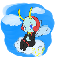 Lil Bug On A Cloud by Usuii