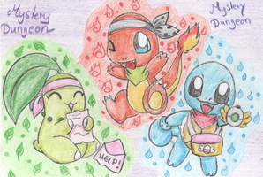Pokemon Mystery Dungeon Team by fuwante-chan