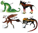[Adoptables] Creatures 3 [Cash Only] by Linkaton
