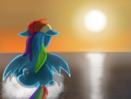 Rainbow by the Sunset by GromekTwist
