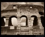 Sky and arches BW by cengel