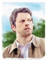 Sunlit Castiel  by Pimento-Girl