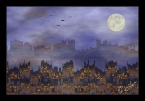 Castle by Moonlight by LaxmiJayaraj
