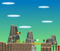 Mario Mountain Scene by MarioPhineas76