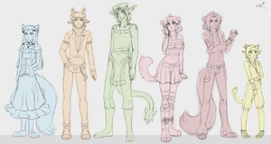 Tropic Mews Group by LovelyKouga