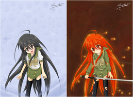 Shana fanart 55 -the two sides by Renzo-ANIME-FAN