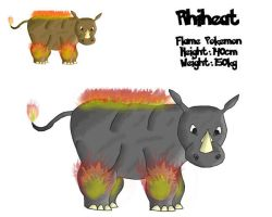 Fakemon 005 - Rhiheat by RaptorRexIII