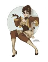 Steampunk Lady by LaTaupinette