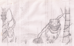 Alien Frog People from... Kepler 234-B by RuneSpider