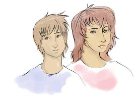 Brother and Sister by mechaguy