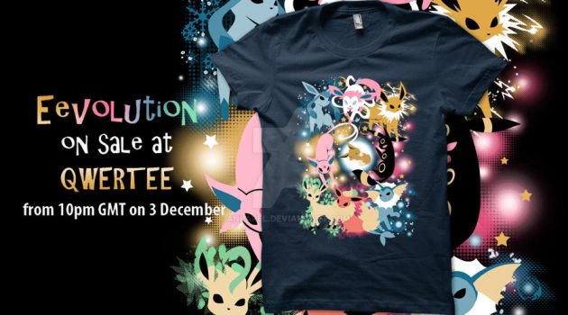 Eevolution on Qwertee! 3 December by Anlarel