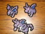 Pokemon Sprite Magnets - Nidoran-M Family by UWorlds