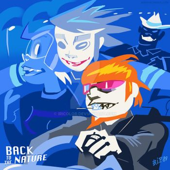 Gorillaz: Back to the Natue by iricolor