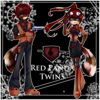 Sonic Adopt- Red Panda Twins OPEN by Angelique-Adopts
