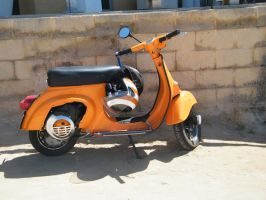 orange scooter by PhotographicJaydiee