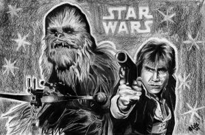 Chewie and Han by Vicki-Death