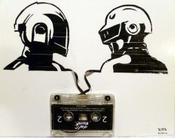 Daft Punk on tape by KAPcom