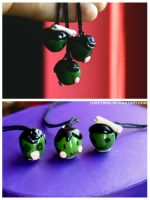 Shrunken Head Charms by LOVETRON