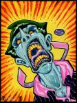 Crazy Joker acrylic painting by PatCarlucci
