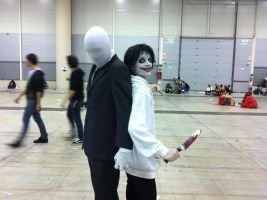 Slenderman and Jeff the killer's Cosplays by TheGreatAkai