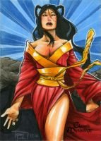 Amaterasu Classic Mythology Sketch Card by RichardCox