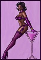 Champagne pin up queen by ebony-chan