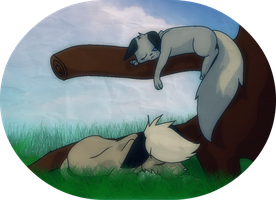 Katinka and Marlin in a Tree by PurpleFoxGurl