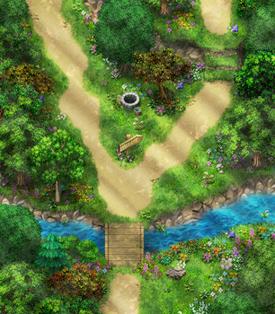 Forest River Map .gamedev. by Tsarmina-chan